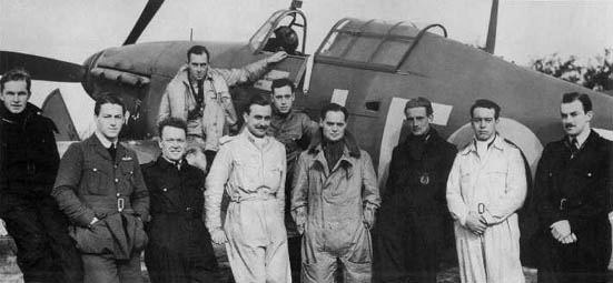 Bader and his pilots.